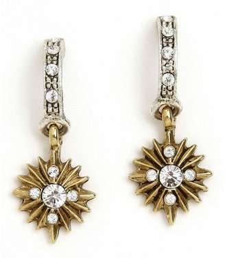 The vatican library collection two-tone crystal starburst earrings