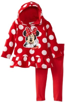 Disney Baby-girls Infant 2 Piece Mickey Mouse Polka Dot Pullover Hood and Pant