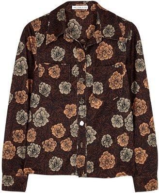 REJINA PYO Remi Floral-print Jersey Shirt