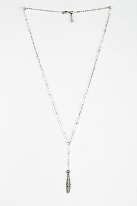 Vanessa Mooney Feather Rosary Necklace