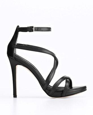 Ann Taylor Lia Strappy Leather Platform Sandals