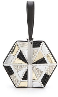 Diane von Furstenberg Diamond Box Clutch