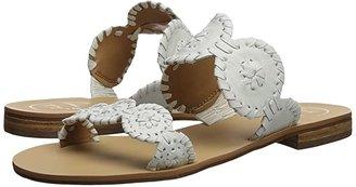 Jack Rogers Lauren (Platinum) Women's Slide Shoes