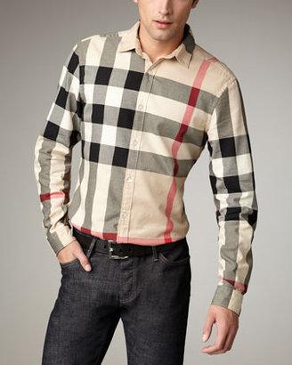 Burberry Quad-Check Woven Shirt, New Classic