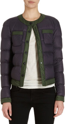 Barneys New York Cropped Puffer Jacket