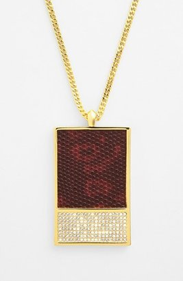 Vince Camuto 'Tour of Duty' Leather Pendant Necklace