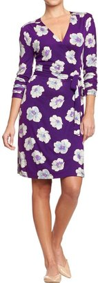 Old Navy Women's Printed Wrap-Front Dresses