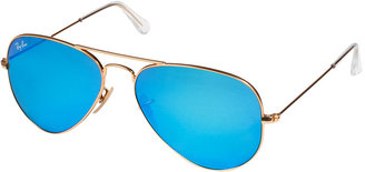 Ray-Ban Arista Aviator Metal Mirrored Sunglasses