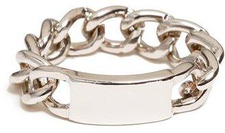 BaubleBar Silver Chain ID Ring