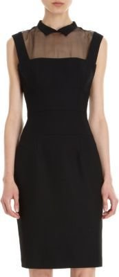 L'Wren Scott Sheer Yoke Dress