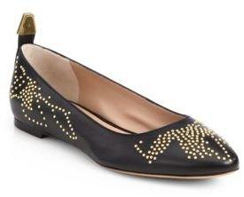 Chloé Leather Studded Ballet Flats