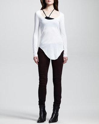 Helmut Lang HELMUT Halo Harrow Pigment-Washed Skinny Pants