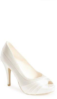 Women's Menbur 'May' Satin Peep Toe Pump $161.95 thestylecure.com