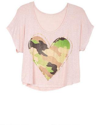 Delia's Camouflage Heart Tee
