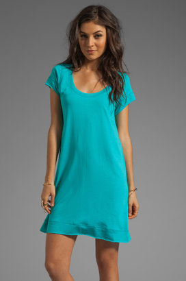 Blue Life Roll Hem T-Shirt Dress