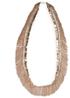 Marie-Laure Chamorel Marie Laure Chamorel Long Silk and Brass Necklace
