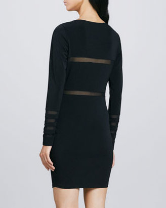 Elizabeth and James Millie Sheer-Stripe Dress