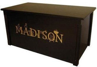 Personalized Espresso Toy Box with Thematic Lettering