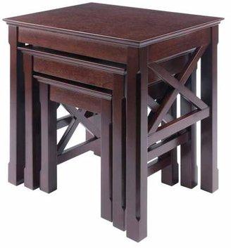 Winsome Xola 3 Piece Nesting Table - Cappuccino