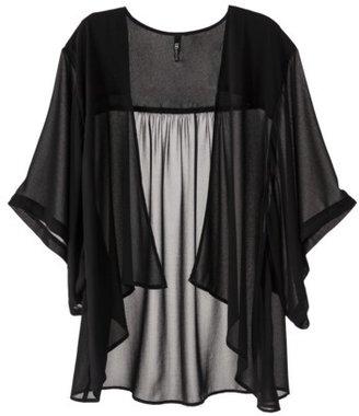 labworks Women's Plus-Size Chiffon Layering Jacket - Black
