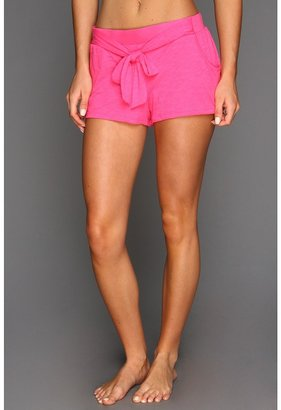 Juicy Couture Slub Knit Basic Short with Tie (Helium Pink) - Apparel