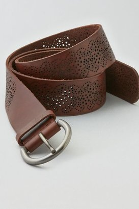 American Eagle Outfitters Brown Perforated Leather Belt