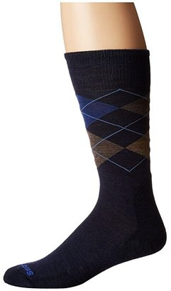 Smartwool Diamond Jim (Deep Navy Heather/Desert Sand Heather) Men's Crew Cut Socks Shoes