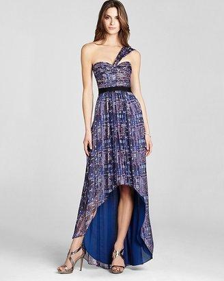BCBGMAXAZRIA One Shoulder Dress - Printed High Low