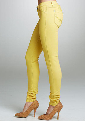 Alloy Royal Blue Colored Jegging - Yellow