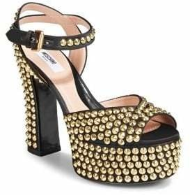 Moschino Stud Ankle-Strap Sandals