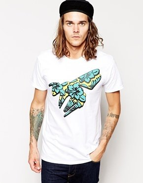 Abuze London T-Shirt With Melon Wasp Print
