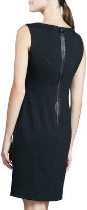 Elie Tahari Ladella Diamond Jacquard-Front Dress