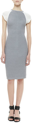 Yigal Azrouel Cut25 by Fitted Techno Honeycomb Dress