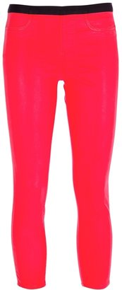 Helmut Lang shiny cropped trouser
