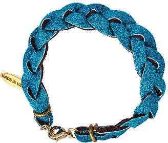 Ettika Braided Turquoise Glitter Bracelet