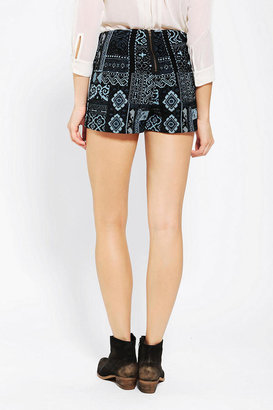Urban Outfitters Ecote Jacquard Pin-Up Short