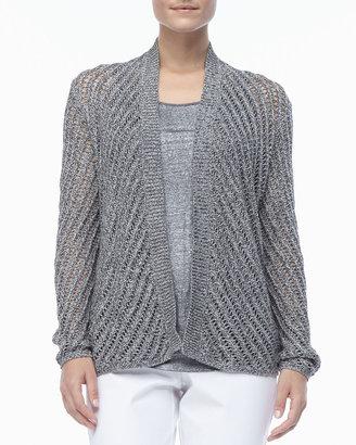 Eileen Fisher Cotton Twist Open-Weave Cardigan