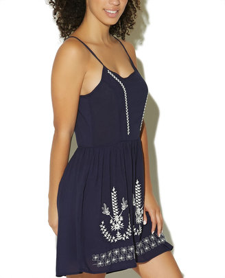 Wet Seal Embroidered Slip Dress