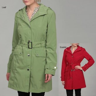 London Fog Women's Belted Hooded Coat $40.49 thestylecure.com