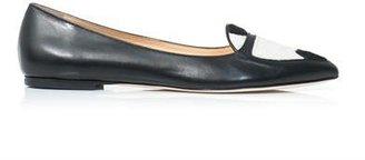 Duccio Venturi Calf hair insert point-toe slippers