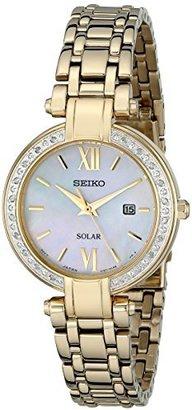 Seiko Women's SUT182 Analog Display Japanese Quartz Gold Watch $475 thestylecure.com