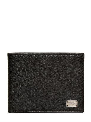 Dolce & Gabbana Dauphine Leather Coin Wallet