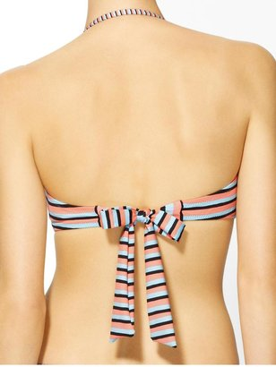Nanette Lepore Strobe Light Stripe Tease Bandeau
