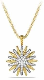 David Yurman Starburst Medium Pendant with Diamonds on Chain