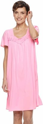 Miss Elaine Women's Essentials Pajamas: Short Tricot Nightgown