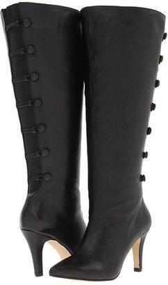 Rose Petals - Tera (Extra Wide Shaft) (Black Softy Calf/Gore) - Footwear