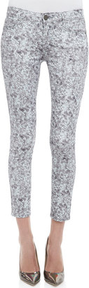 Paige Verdugo Pewter Sequined Skinny Jeans