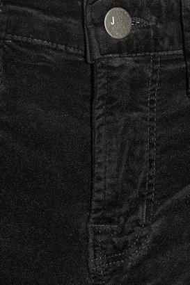 J Brand 815 mid-rise velvet skinny jeans