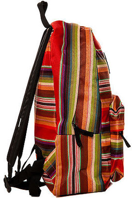 Vans The Realm Backpack in Red Multi Stripe