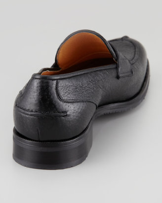 Gravati Split-Toe Peccary Penny Loafer, Black